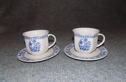 Hagymamintás porcelán kávéscsésze aljjal párban (23/d)