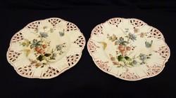 Rudolf Ditmar Znaim desszertes tányérok 1800-as évek végéről