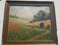 Csókfalvy Raffay Sándor festménye, kartonon, 61x51+saját gyönyörű kerete