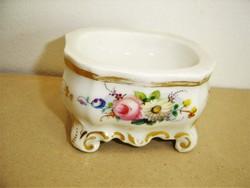 Antik bieder kézzel festett porcelán asztali sótartó