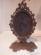 Jelzett antik asztali fénykép keret