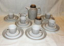 Retro kávés reggeliző készlet Arzberg porcelán 21 db.