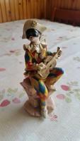 Jelzett kerámia velencei bohóc szobor eladó!