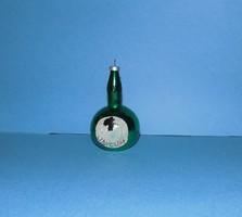Régi üveg karácsonyfadísz UNICUM 8 cm (1)