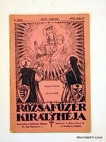 1928 február  /  RÓZSAFŰZÉR KIRÁLYNÉJA  /  RÉGI EREDETI ÚJSÁG Szs.:  5484