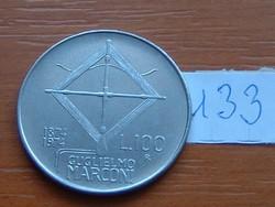 OLASZ 100 LÍRA 1874-1974 G.MARCONI 133.