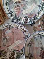 Sarreguemeines falitányérok Wagner operáinak jeleneteivel