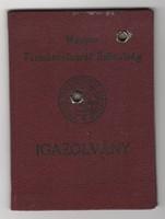 Magyar Természetbarát Szövetség igazolvány
