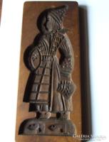 Régi, fából készült mézeskalács nyomódúc, forma-akár falidísz is lehet