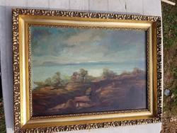 Id.Benedek Jenő (1906-1987) olajfestménye, farost, 60x44+szép keret