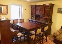 Csodálatos Ónémet tálaló szekrény,étkező asztal+6 szék,kis szekrény komód,kanapé pamlag .