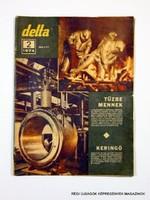 1974 február  /  delta  /  SZÜLETÉSNAPRA RÉGI EREDETI ÚJSÁG Szs.:  7652