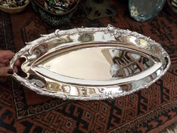 Hatalmas szecessziós ezüst tálca