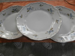 Zsolnay kék barackvirágos lapos tányérok