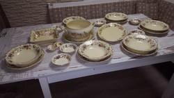 Zsolnay pillangó mintás étkészlet 6 személyre