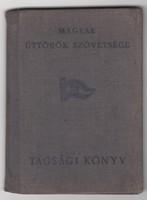 Magyar Úttörők Szövetsége tagsági könyv