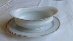Retro, arany szegélyes , porcelán mártásos tál, kínáló eladó!