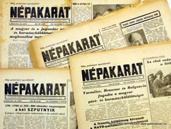 1957 november 21  /  NÉPAKARAT  /  SZÜLETÉSNAPRA RÉGI EREDETI ÚJSÁG Szs.:  5052