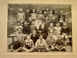 Régi gyerek fotó csoportkép vintage fénykép iskolai osztálykép 1930-31