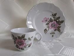 2895- Bavaria vadrózsás csésze és tányér