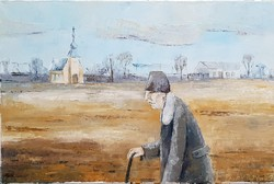 Pálfy István Putyu - Vasárnap 40 x 60 cm olaj, vászon
