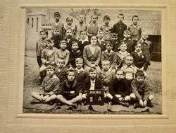 Régi gyerek fotó csoportkép vintage fénykép iskolai osztálykép 1931-32