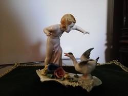 ENS Volkstedt porcelán figura