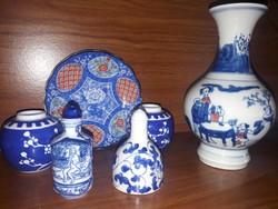 Régi, Kínai porcelánok egyben, 6 darabos