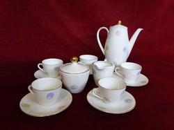 Seltmann német porcelán, Bavaria 5 személyes kávéskészlet.