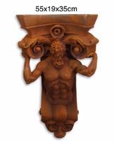 Rozsda hatású figuràlis barokk stíl falikonzol-falidísz