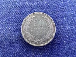 Szép Osztrák-Magyar Korona érmék 20 fillér 1893 KB BU / id 11586/