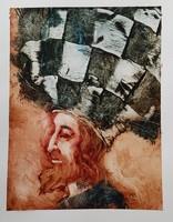 Győrfi András - 30 x 22 cm olaj, akril, papír