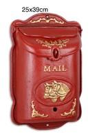 2db Piros Öntöttvas postalàda -mailbox