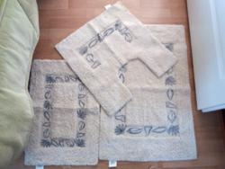 Új, 3 részes fürdőszoba szőnyeg szett