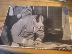 Hkb Sajtófotó Hitler szerződést ír alá ritkaság eladó horogkeresztes pecséttel.eredeti fotó