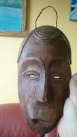 Kerámia,jelzett arc,maszk,falidísz