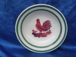 Antik WILHELMSBURG kakasos tányér