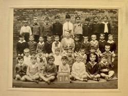 Régi gyerek fotó csoportkép vintage fénykép iskolai osztálykép 1929-30