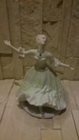 Táncoló hölgy jelzett porcelán !