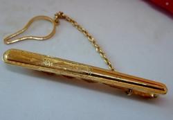 Szépséges régi aranyozott ezüst nyakkendőcsipesz
