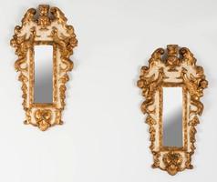 Aranyozott stilizált angyal figurás tükör pátban