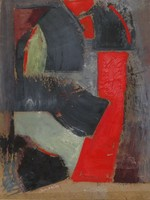Baska József - Kompozíció VIII.32 x 24 cm olaj, farost 1993