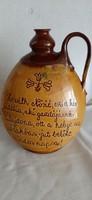 Különleges írásos kerámia, butella