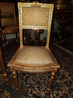 4 chairs and table in lajos xvi style