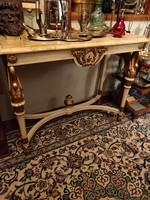Old wod and marble console from Italy