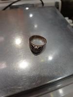 Gyönyörű antik 14 k. gyémántköves gyűrű 5,19 g