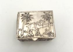 Díszes antik ezüst szelence