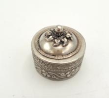 Díszes antik ezüst szelence 925-ös
