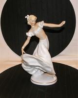 Táncosnő Schaubach Kunst porcelán figura