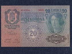 Gyönyörű Osztrák-Magyar (1912-1915) 20 Korona bankjegy 1913 / id 11875/